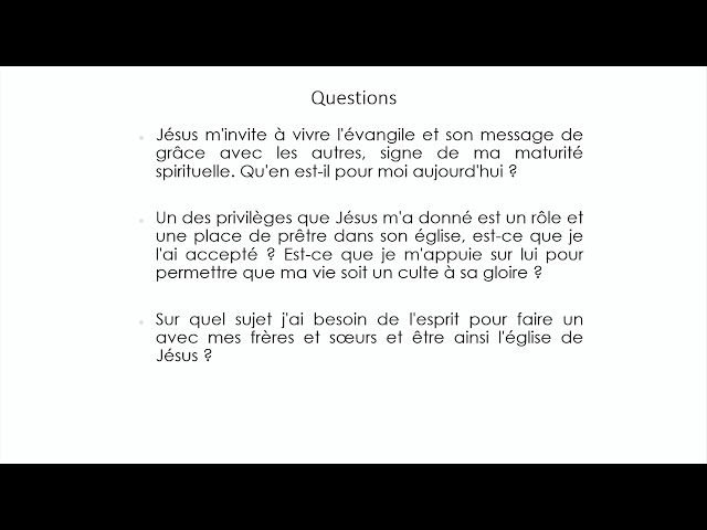 Culte EEL Lyon - 14 Février 2021