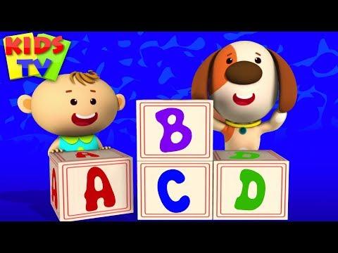ABC Song | Little Eddie Cartoon | Nursery Rhymes & Baby Songs For Children