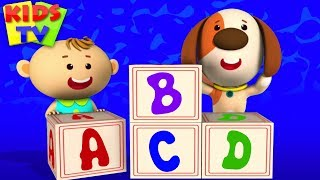 ABC Song | Little Eddie Cartoon | Nursery Rhymes \u0026 Baby Songs For Children