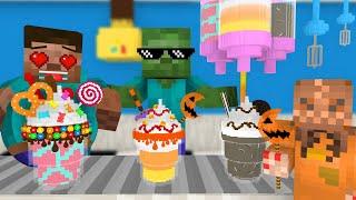 Monster School: WORK AT MILKSHAKES PLACE! - Minecraft Animation