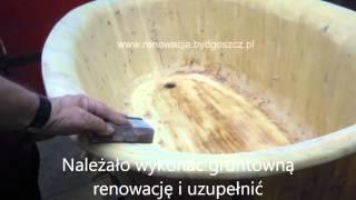 Naprawa wanny z drewna