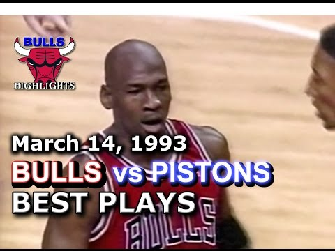 March 14 1993 Bulls vs Pistons highlights