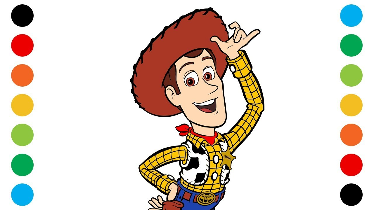 Toy Story Woody Coloring Pages For Kids Digital Coloring Youtube