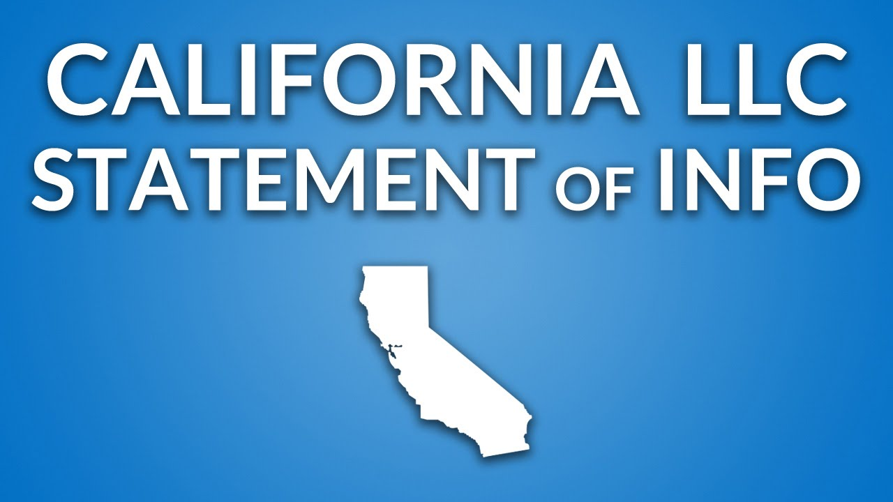 California LLC - Annual Report (Statement of Information) - YouTube