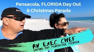 Exploring Pensacola, FLORIDA, Dec 2019. Eating out & the Christmas Parade.
