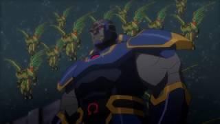 Первый бой Лиги Справедливости с Дарксайдом и его армией