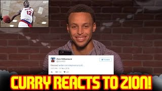 STEPH CURRY REACTS TO ZION WILLIAMSON DUNKS!