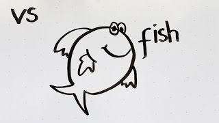 13: How to Draw a Cute Fish ☆ Step by Step ☆ Kid