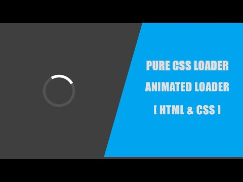 Pure CSS Loader and Spinner Animation | HTML and CSS Tutorial | Freelancer Soyel thumbnail