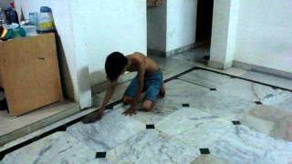 HOT Model gets Naughty with the Mop