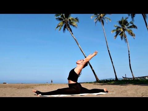 hanumanasana splits yoga class india intermediate  youtube