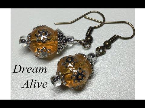 Resin Art Jewelry 레진아트 액세서리 - 꿀단지 귀걸이 만들기 Making Honey Pot Earrings