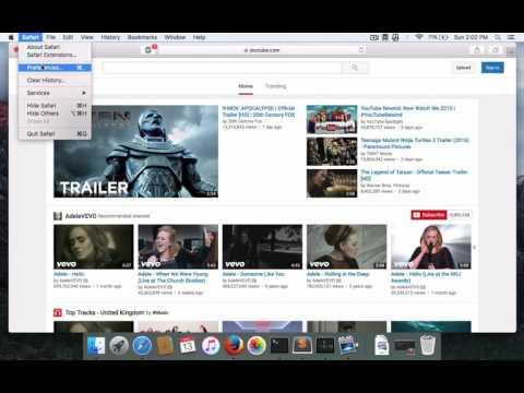 Sign In Problem Youtube Safari  MAC OSX