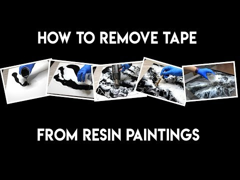 How to Remove Tape from a Resin Painting