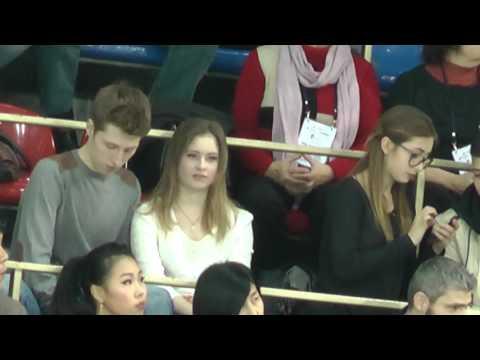 Юля Липницкая на трибуне