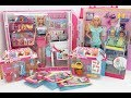 Barbie's goodies shopping box  unboxing kitchen aid, cleaning tools,groceries store Tia Tia