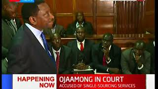 DEVELOPING STORY: Governor Ojaamong\'s lawyer Senior Counsel James Orengo addressing the courts