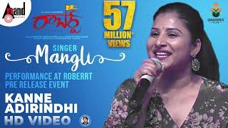 Singer Mangli Kanne Adhirindhi Song Performance At Roberrt Pre Release Event   Darshan   Arjun Janya