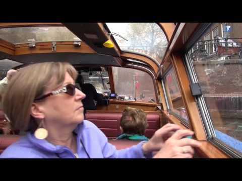 Our Big Europe Vacation   Raw footage   DAY 4 Thursday Amsterdam Canal Tour, On the River