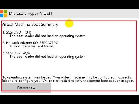 virtual machine boot summary