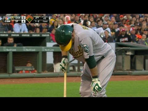 Billy Burns Of Oakland A's' Has Testicular Contusion Leaves Giants Game