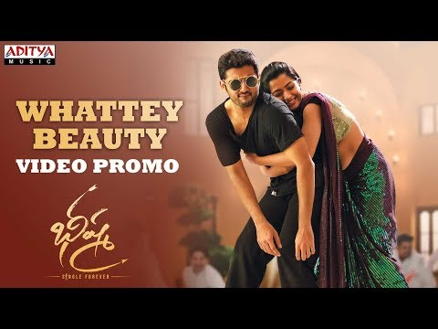 Whattey Beauty Video Promo Bheeshma Movie Nithiin Rashmika Venky Kudumula Mahati Swara Sagar Youtube