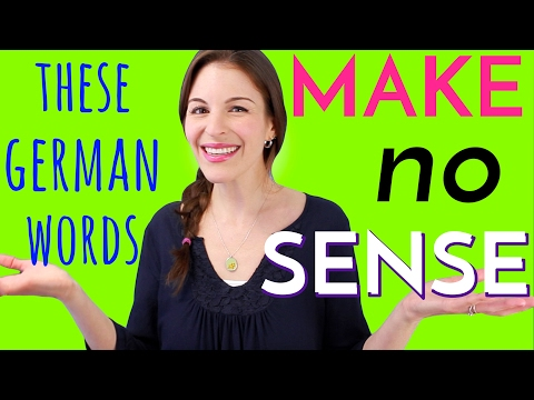 8 German Words that MAKE NO SENSE