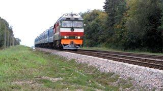 Тепловоз ТЕП70К-0322, перегін Лазурна - Уза БЧ. 26.09.2013