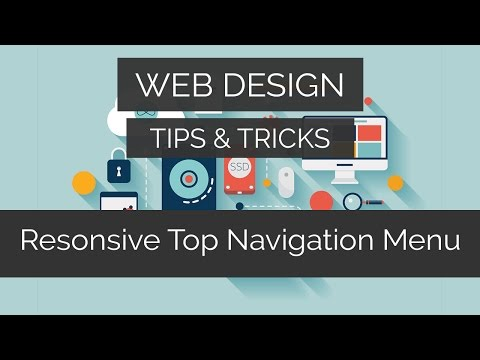 Responsive Top Navigation Menu | Web Design Tips & Tricks