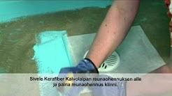2/5. Kiilto Kerafiber: lattiakaivo / Floor drain
