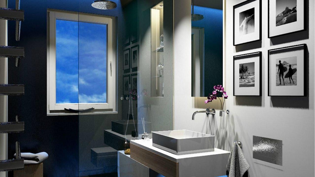 Minimalistische badezimmer interieur mit marokkanischen fliesen