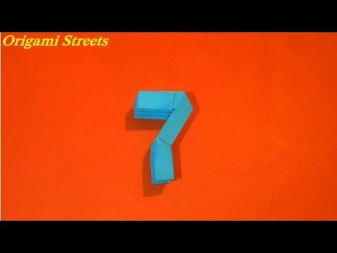 Как сделать цифру 7. Оригами цифра 7