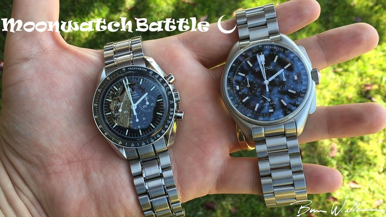 ba0c94ec7f5 Bulova Moonwatch vs Omega Moonwatch - YouTube