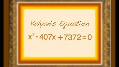 Kalyan's Equation and Kalyanic Numbers