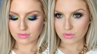 Drugstore Chit Chat Tutorial! ♡ Affordable Blue & Neon Yellow Eyes!