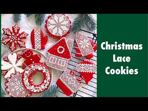Christmas Lace Cookies Youtube