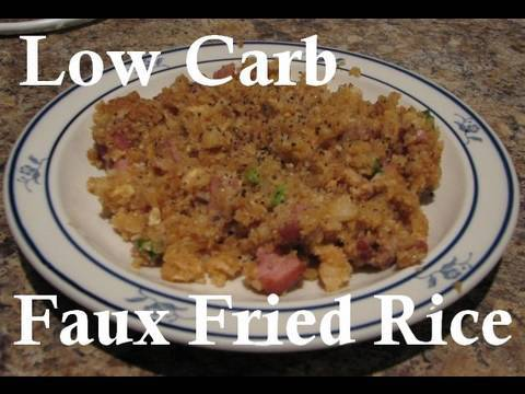 atkins diet recipes low carb faux fried rice if youtube. Black Bedroom Furniture Sets. Home Design Ideas