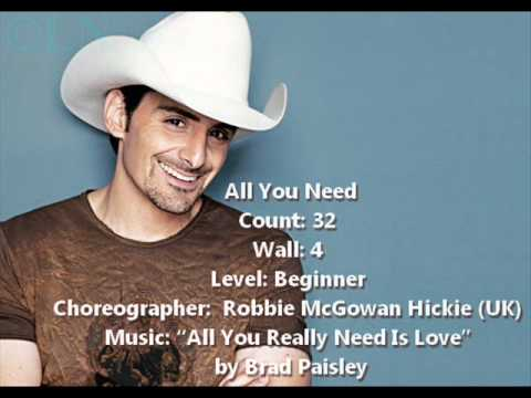 Linedance All You Need Brad Paisley Youtube