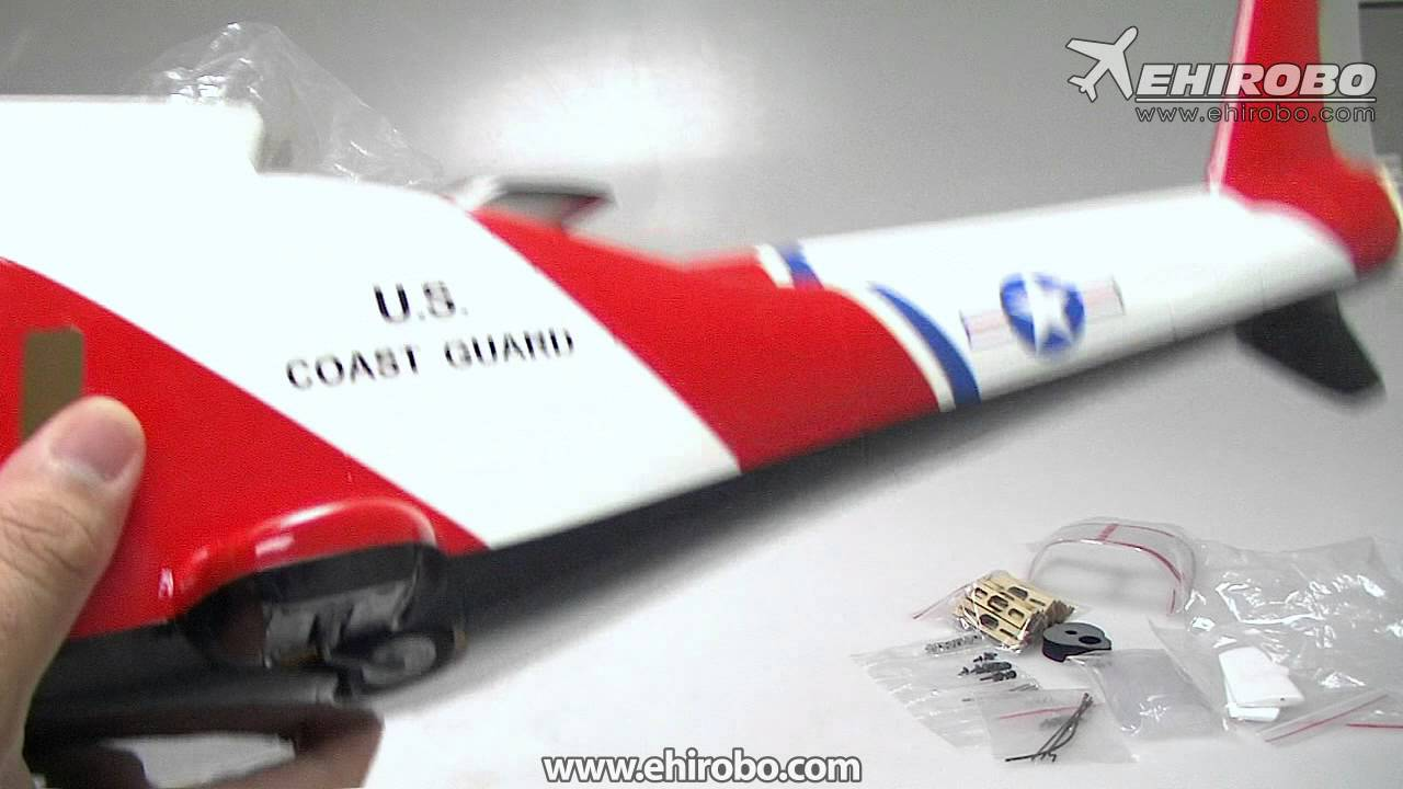 eHIROBO com Open Box - CopterX 450 Class Agusta A109 Coast Guard Glass  Fiber Fuselage