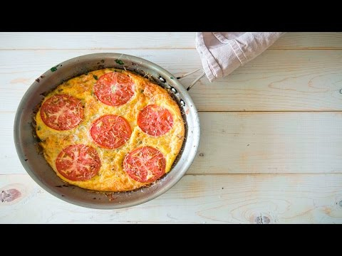 Spinach Mozzarella Breakfast Frittata with Red Onions & Tomatoes