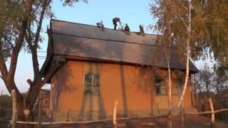 Прекратить работу на высоте в виду опасности.  Владимир и Никита на крыше дома.  04. 10. 2016(, 2016-10-12T21:40:45.000Z)