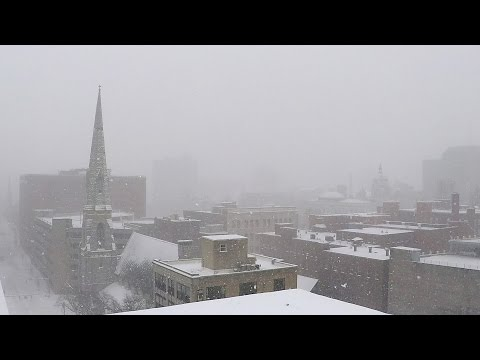 Thumbnail: Winter Storm Stella blankets Syracuse, NY, in snow