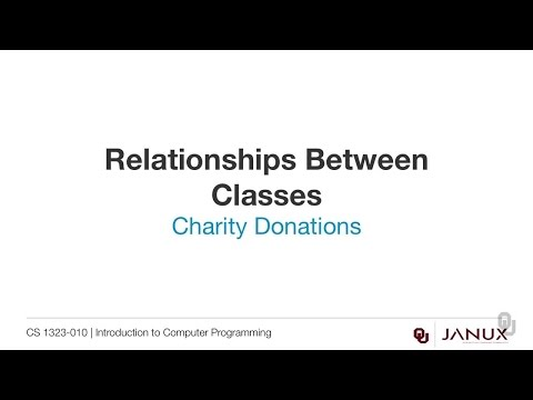 Introduction to Computer Programming - Aggregation - Charity Donations