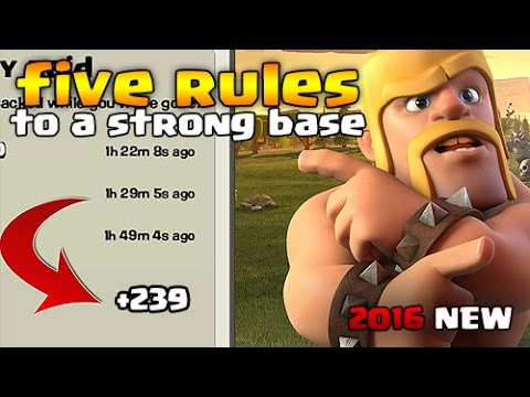 5 Rules to Improve your Base \ Layout | Clash of Clans ( 2016 NEW )