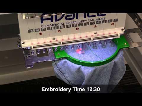 Avance 1502 | 2-Head Embroidery Machine Demonstration (2018)