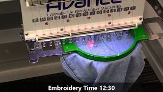 Avance 1502 | 2-Head Embroidery Machine Demonstration (2018)