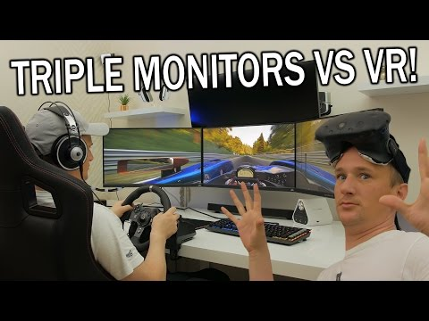 What's the Ultimate Racing Setup? TRIPLE SCREENS VS VR