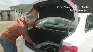 How to find the paint code for any audi. your then order touch up guaranteed match audi at https://www.paintscratch.com/touch_u...