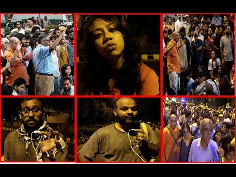 JNU students and teachers long march against undemocratic administrative measures