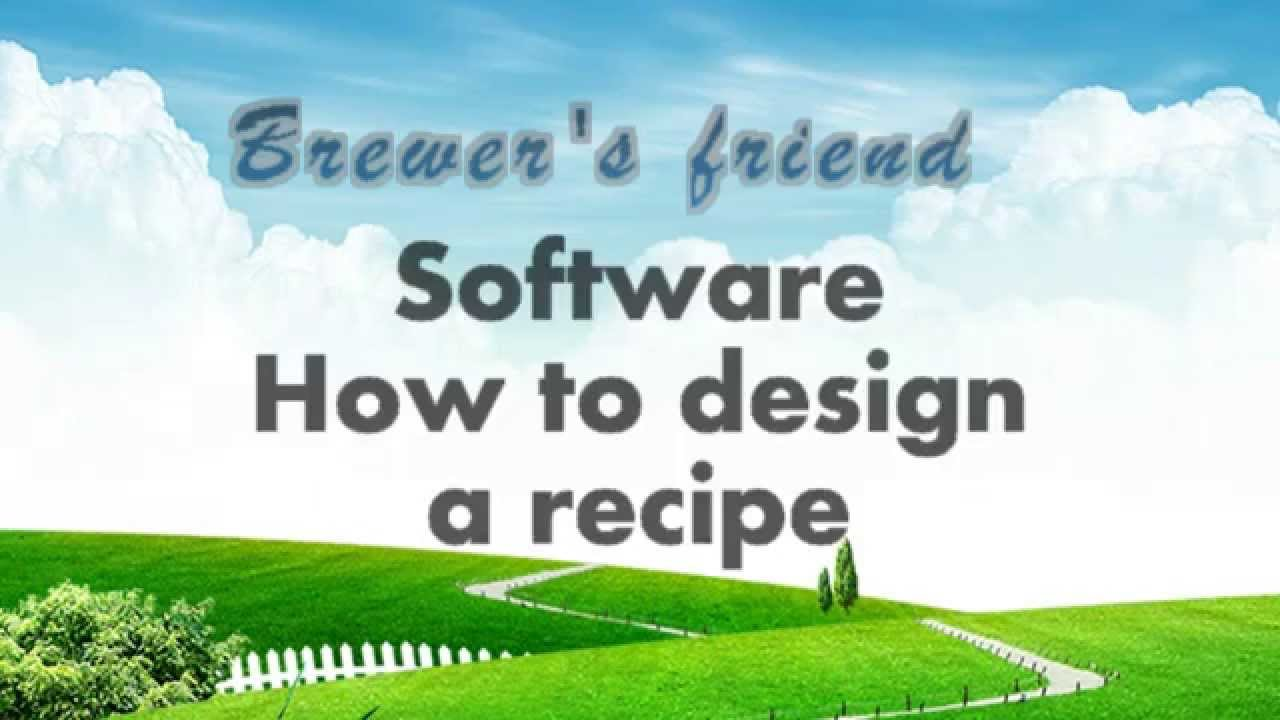 Brewer's Friend Software making a recipe